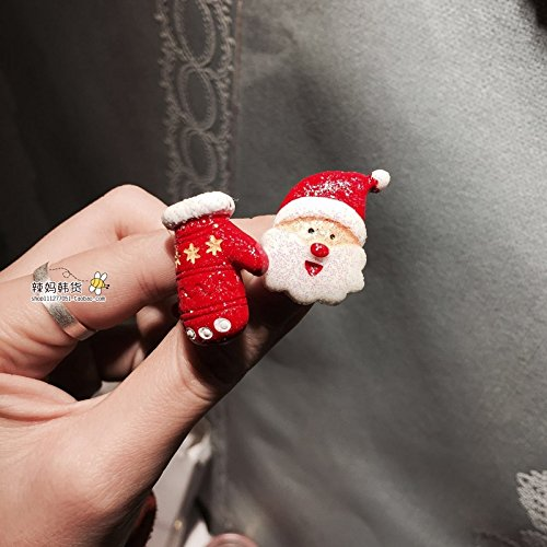 Chrisas and New Year ornaments Korean children's clothing dress Chrisas toy snowman antlers old hair rope hair ring for women girl lady ()