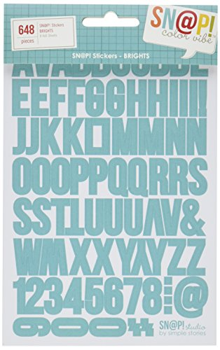Scrapbooking stickers alphabet