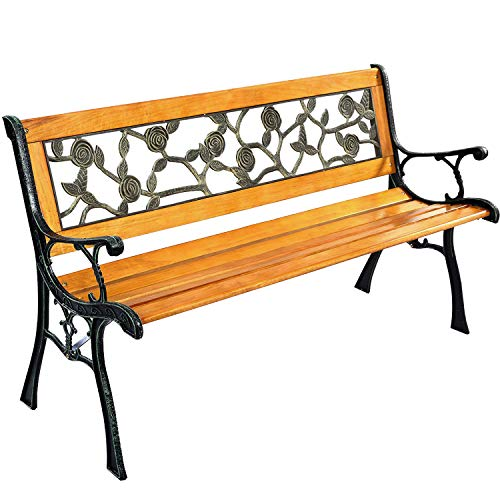 FDW Park Bench Garden Metal Outdoor Furniture Benches for Patio Yard