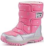 DADAWEN Boy's Girl's Outdoor Waterproof Cold Weather Snow Boots(Toddler/Little Kid/Big Kid)