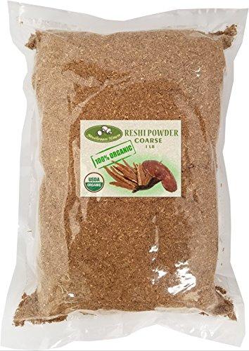 - Mushroom House Organic Dried Reishi Mushroom Powder, Course, 1 Pound