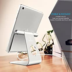 Lamicall Tablet Stand, Adjustable Tablet Holder – Desktop Stand Dock Compatible with New iPad 2020 Pro 9.7, 10.5, 12.9…