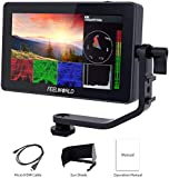 "FEELWORLD Type-C F6 Plus 5.5"" Screen Touchable 3D LUT Camera Field Video Monitor 4K HDMI Small Full HD 1920x1080 IPS for DSLR with Swivel Arm Video Peaking Focus Assist 8.4V DC Input/Output"