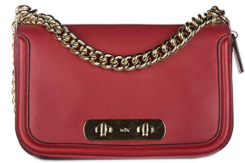 Coach sac à l'épaule femme en cuir rouge