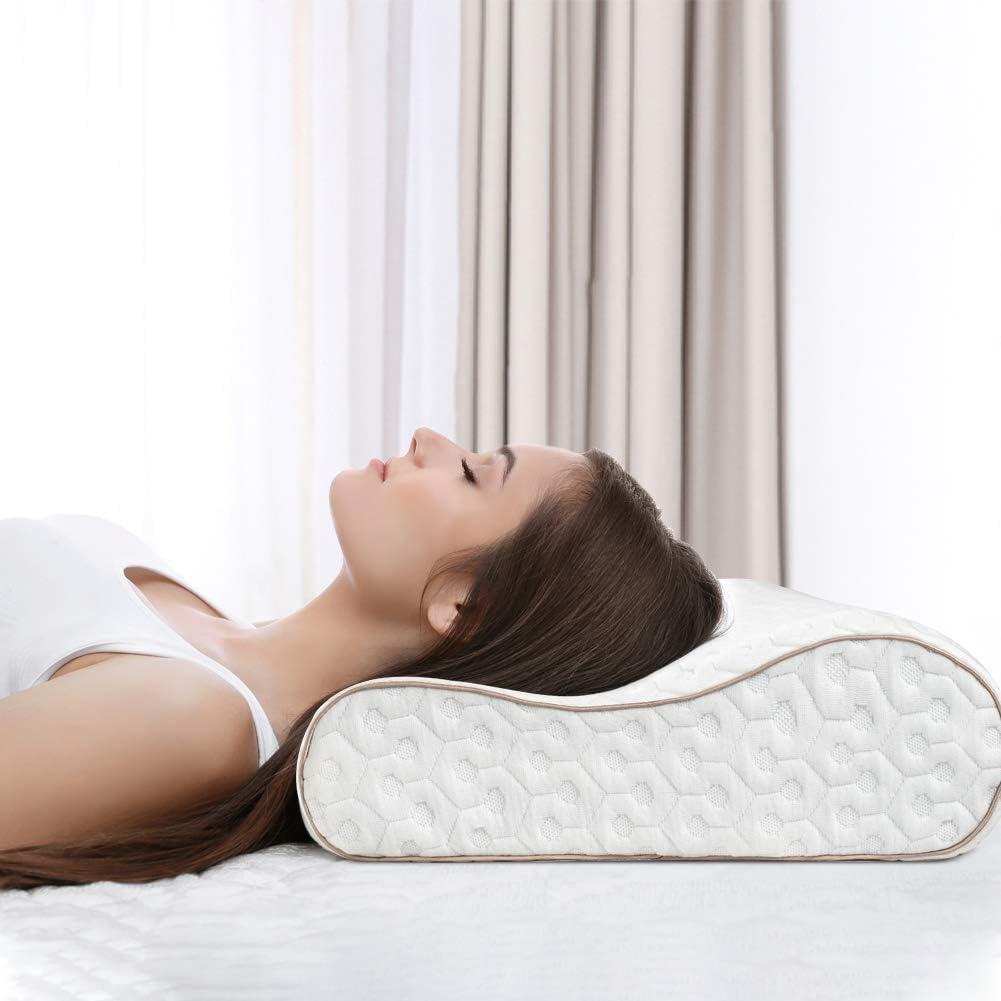 BedStory Almohada Cervical 60x40cm Almohada Viscoelastica Gel en Forma Ergonomica con Funda Desmontable y Lavable Reduce Dolores Almohada de Cervicales Adecuada para Todas Posicións para Dormir