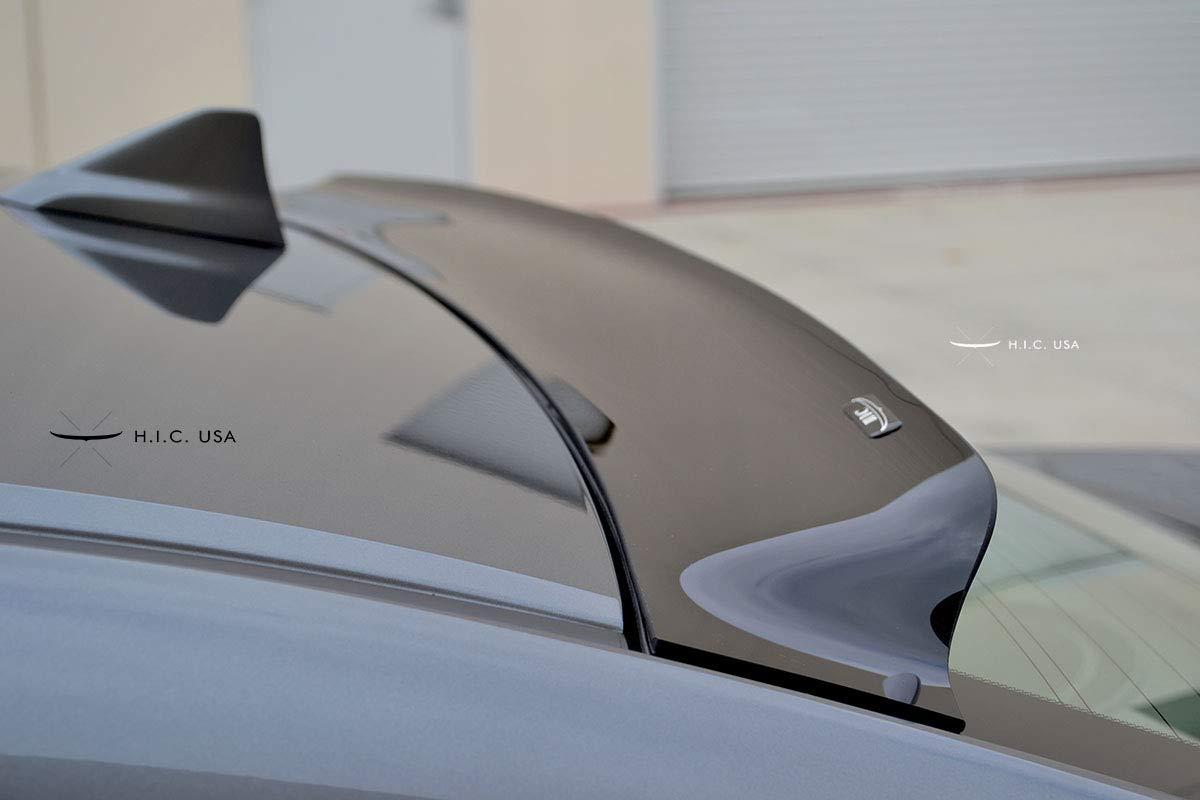 HIC USA 2009 to 2014 TSX 4 Door Rear Visor Glossy Black