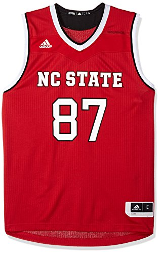 (adidas NCAA North Carolina State Wolfpack Mens Replica Basketball Jerseyreplica Basketball Jersey, Power Red, Large)