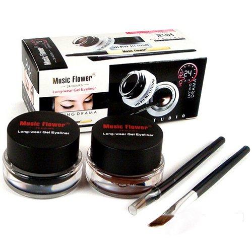 2015 Professional Black Waterproof Cosmetics Eye Liner Gel Eyeliner Pens Tool Set 51NA smt 101 - Golden Eye Contact Lenses