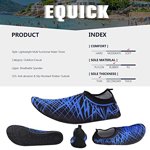 Pool Socks Men Aqua Exercise Women 3 Lightweight EQUICK Anti Shoes Water Barefoot Surf Beach red Sole Slip 6nxwqvBIt