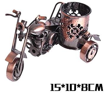 f4f4c2270f8b 鉄製 灰皿 喫煙具 鉄アート 置物 雑貨 バイク オートバイ ミニチュア ヨーロッパ風 インテリア アイアン 手作り