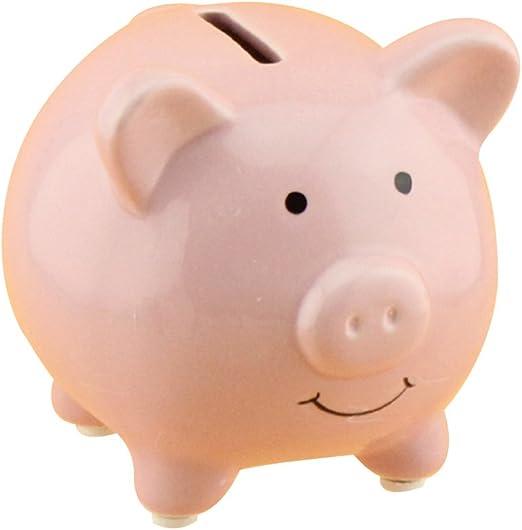 VORCOOL Hucha de Cerámica de Cerdo Caja de Ahorro de Moneda de ...