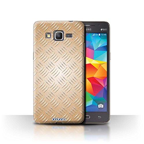 Coque de Stuff4 / Coque pour Samsung Galaxy Grand Prime / Or Design / Motif en Métal en Relief Collection