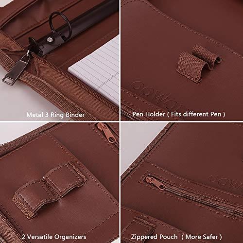 oowolf padfolio  resume portfolio folder  pu leather