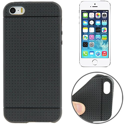 Mxnet Dots Pattern TPU Case für iPhone 5 & 5s & SE & SE rutschsicher Telefon-Kasten ( Color : Black )