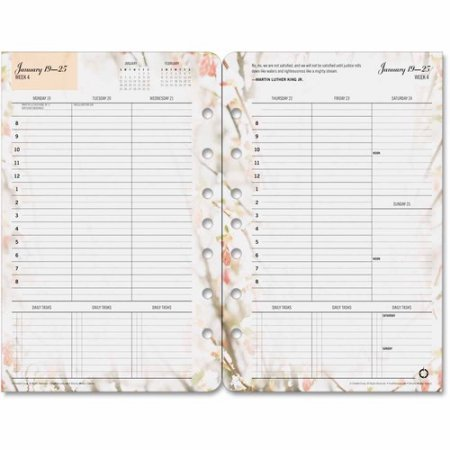 Blooms Dated Weekly (FranklinCovey(R) Blooms Dated Weekly Planner Refill, 5 1/2in. x 8 1/2in., January to December 2018 (35448-18))