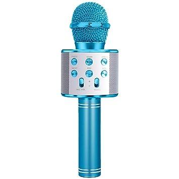 SUNTOY Wireless Bluetooth Karaoke Micrófono Altavoz Máquina Fiesta en casa Regalo de cumpleaños - Gran Regalo