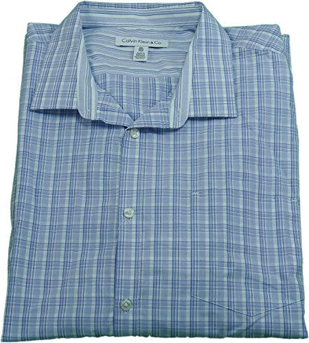 Calvin Klein & Co Men's Size XXL Button Down Dress Shirt Jacaranda (Calvin Klein Mens Dress Shirt Xxl)