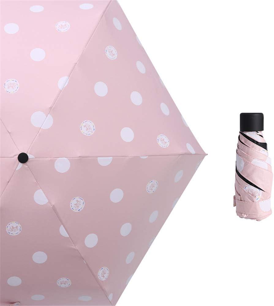 JUNDY Paraguas Plegable Mini Paraguas Ultraligero Resistente al Viento Plegable Compacto Paraguas portátil Sombrilla Plegable de protección Solar sombrilla de plástico Negro colour13 90cm: Amazon.es: Hogar