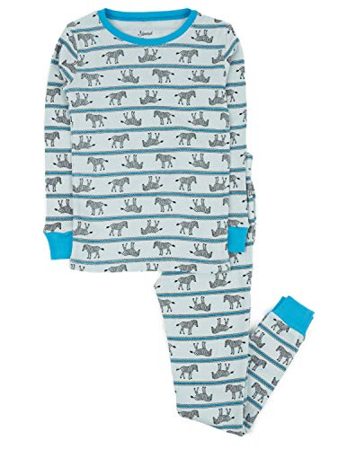 (Leveret Kids Pajamas Boys Girls 2 Piece pjs Set 100% Cotton (Zebra, Size 8 Years))