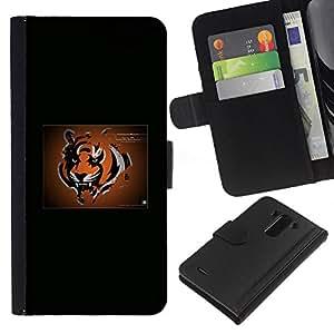 Tiger NFL - la tarjeta de Crédito Slots PU Funda de cuero Monedero caso cubierta de piel Para LG G3