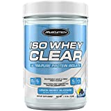 MuscleTech Iso Whey Clear Protein Powder, 22 Grams Protein, Ultra-Pure Isolate, Light and Refreshing Fruit Flavor – Mixes Clear Like Juice, Lemon Berry Blizzard, 1.1 Pounds (19 Servings)