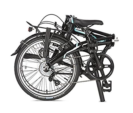Dahon Vybe D7 Adultos Unisex Completo Aluminio Negro bicicletta - Bicicleta (Plegado, Completo, Aluminio, Negro, 50,8 cm (20