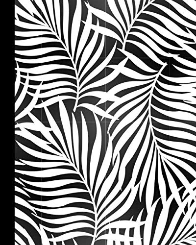 JOURNAL: Color Your Own Cover Lined Journal with Tropical Palm Leaves -