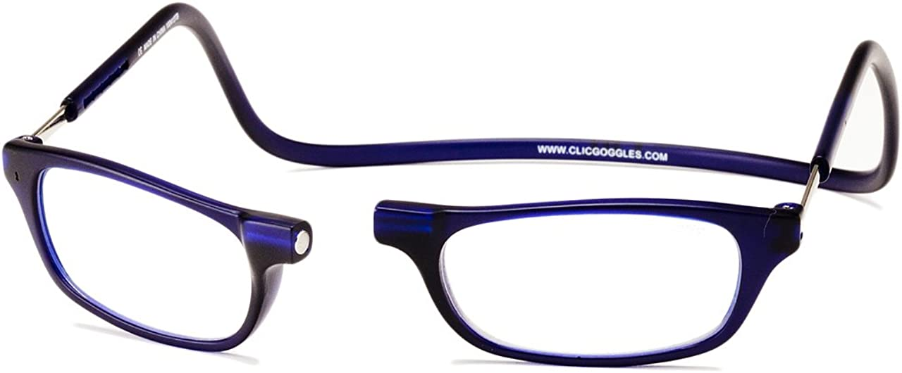Clic Magnetic Reading Glasses in Frosted Matte Blue