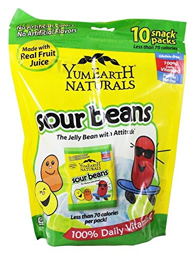 Yum Earth - All Natural Gluten Free Sour Jelly Beans - 10 Pa