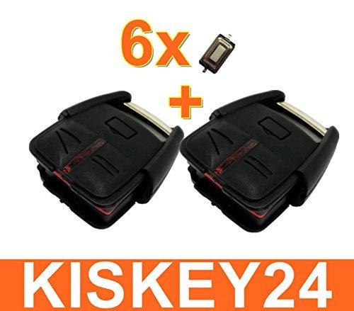 Kis Juego de 2 carcasas para llaves con mando a distancia para Opel Vectra C Signum + 6 micropulsadores