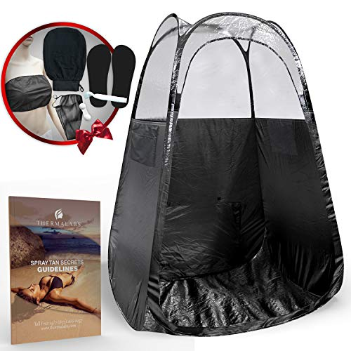 Dark Tan - Spray Tan Tent (Black) The Best, Bigger Than Others, Folds Easily in 30 Seconds and Has NO Logo On Tent Itself!