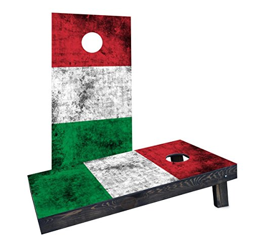 Custom Cornhole Boards CCB1207-AW-RH Worn National (Italy) Flag Cornhole Boards by Custom Cornhole Boards
