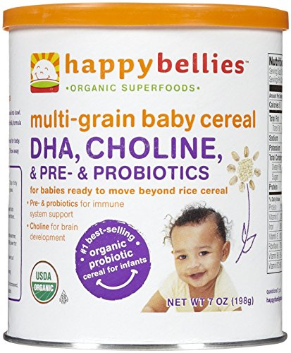 Happy Family happy bellies Baby Cereal - Multigrain - 7 oz - 6 pk