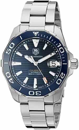 TAG Heuer Men's 'Aquaracr' Swiss Automatic Stainless Steel Sport Watch (Model: WAY211C.BA0928)