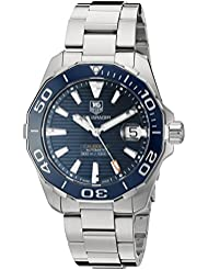 TAG Heuer Mens Aquaracr Swiss Automatic Stainless Steel Sport Watch (Model: WAY211C.BA0928)