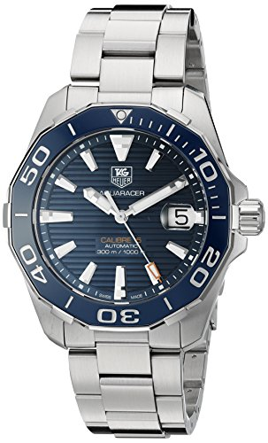 TAG Heuer Men's 'Aquaracr' Swiss Automatic Stainless Steel Sport Watch (Model: WAY211C.BA0928) ()