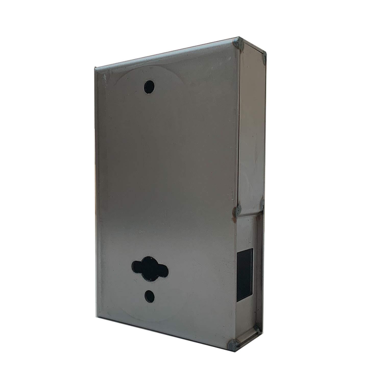 OASIS Steel Gate Keyless Lock Box for KIASET Mechanical Keyless Lock LK420, Unpainted