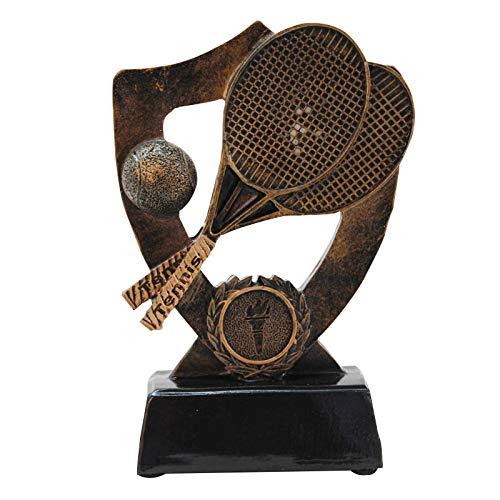 Inveroo Vintage Gold Tennis Memorial Trophy Figurines Decoration Modern Creative Resin Sports Series Memorial Gifts Sports Trophy -