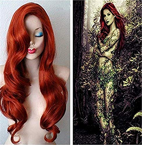 Women's Long Curly Red Cosplay Wig for Anime Costume Party Wig]()