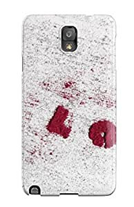 Premium BSrDBRY19942aKfan Case With Scratch-resistant/ Red Heart In White Background Case Cover For Galaxy Note 3