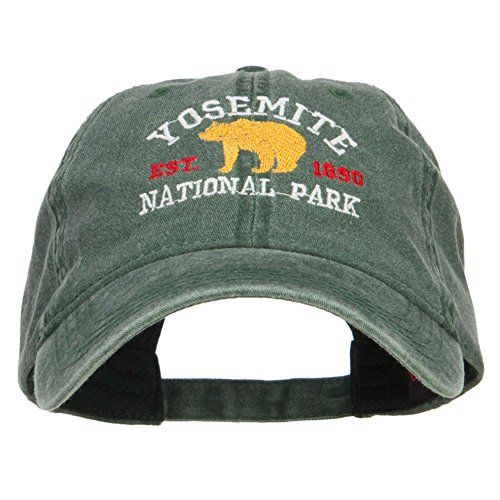 Yosemite National Park Embroidered Washed Cap - Dk Green OSFM