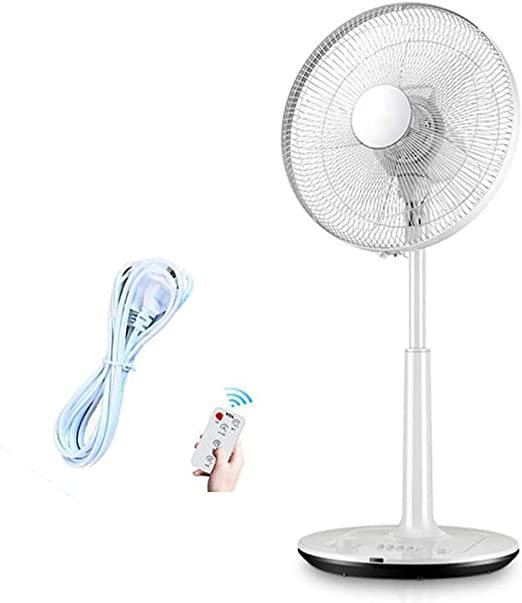 Escritorio/Ventilador de pie Silencioso Control Remoto Ajustable 3Velocidades Oscilante Cable Largo Fan para Familia Oficina: Amazon.es: Hogar