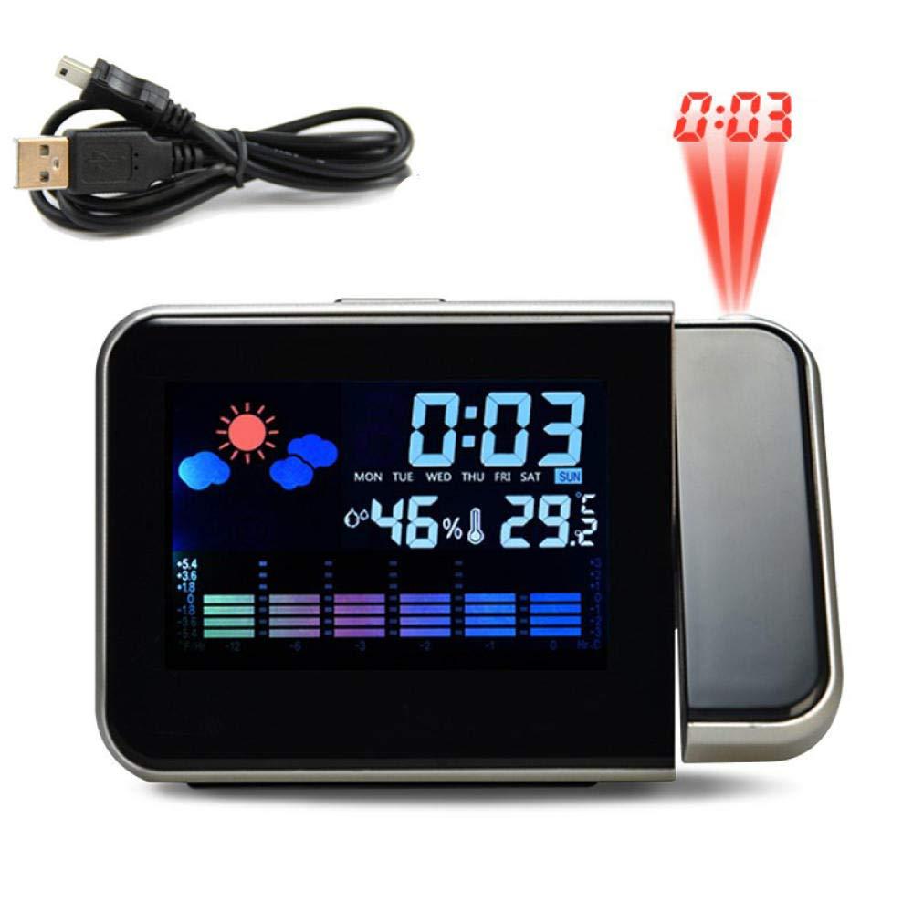Despertador Proyector Blanco Reloj Despertador De Proyección Con ...
