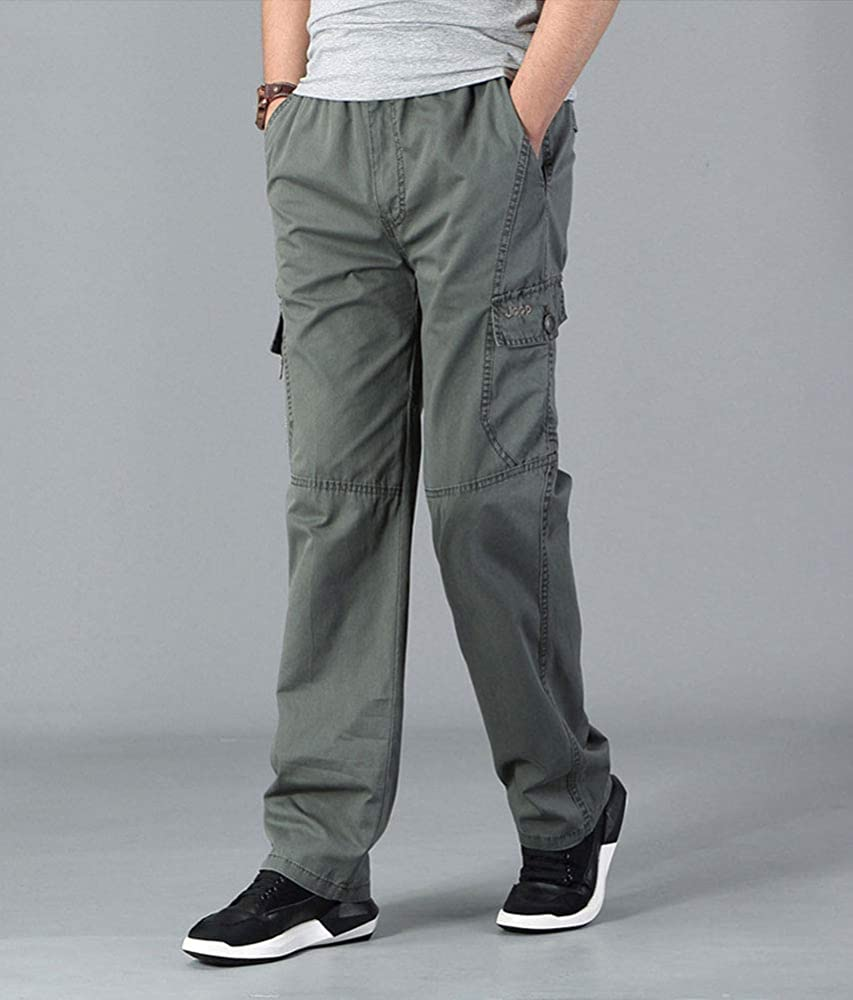 Big /& Tall Men/'s Casual Cargo Pants with Side Elastic by Full Blue Sizes 42-68