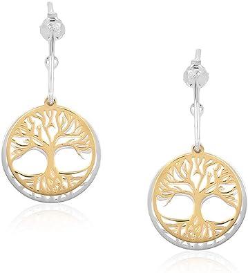 Statement Earrings Wire Dangle Earrings Tree Of Life Earrings Tree Of Life Jewelry Wire Jewelry Silver Platted Wire Earrings