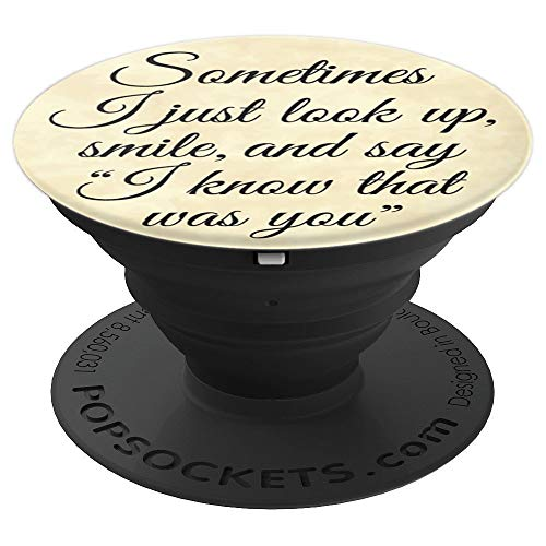 Brave New Look Guardian angel I know that was you Pop Sockets Stand for Smartphones and Tablets - PopSockets Grip and Stand for Phones and - Angel Guardian Disc