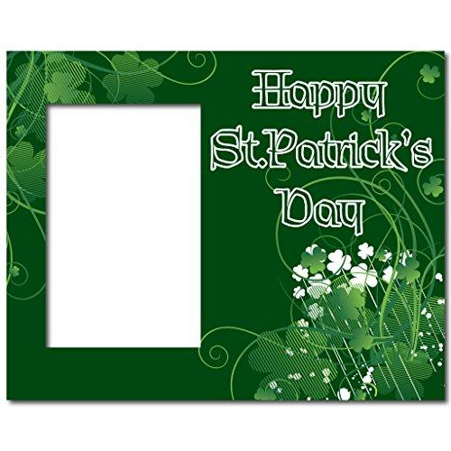 St Patricks Day Shamrock Svg Clover Monogram Frames Etsy