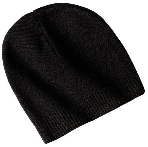 Cuffed Watch Cap - Joe's USA(tm) - 100% Cotton Beanies, Black, One Size