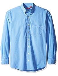 Izod mens big-tall Big and Tall Essential Check Long Sleeve Shirt