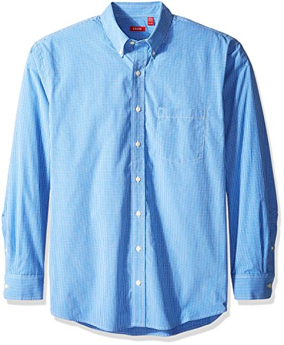 IZOD Men's Big and Tall Essential Check Long Sleeve Shirt, American Dream, 3X-Large Big